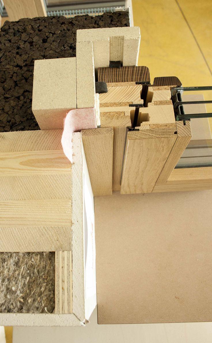 window passivhaus detail wood&cork technology eco modular window