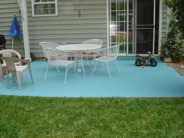 130 best balconies, patios & porches images on pinterest   patio ... - Outdoor Concrete Patio Paint Ideas
