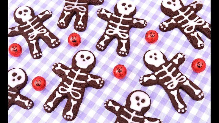 Galletas de Chocolate con Esqueletos | Postres fáciles para Halloween