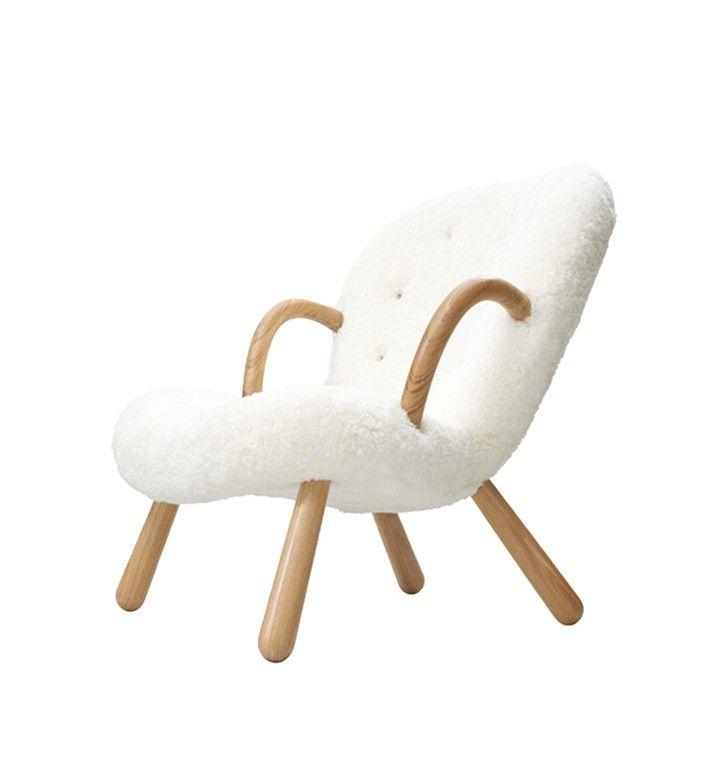 Arctander lænestol - Fåreskind/off white Pris: 38.435,00 kr