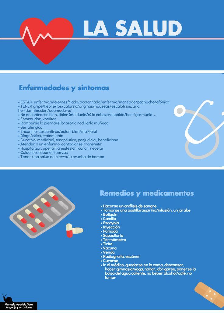 La salud: enfermedades y síntomas. Remedios y medicamentos. https://lenguajeyotrasluces.wordpress.com/