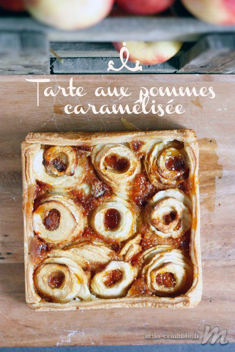 Miss Crumble : Tarte aux pommes caramélisée