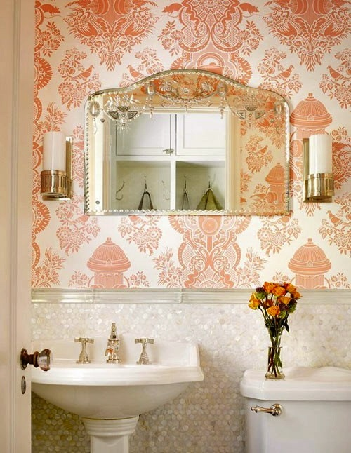 Photography Gallery Sites Unique wallpaper gives this room an added pop