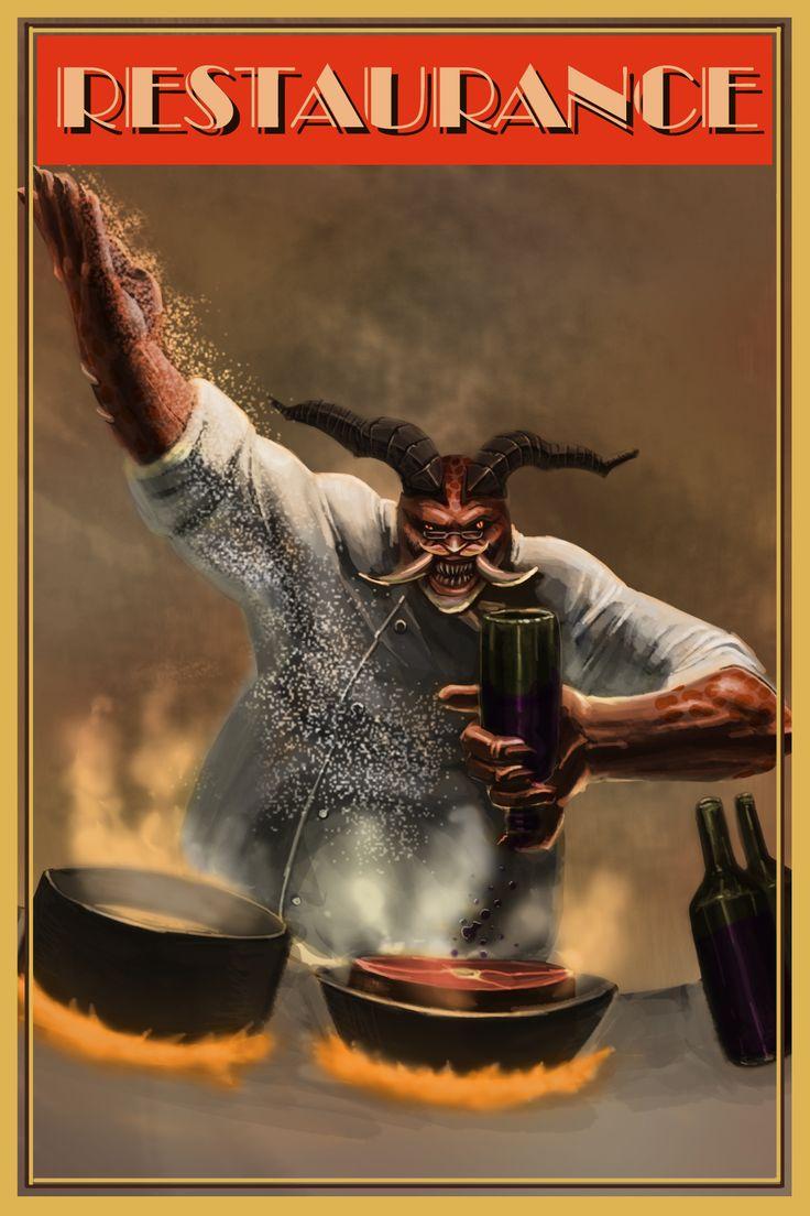 diablo3 _  chef butcher retro poster