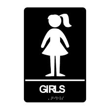 Girl Symbol Make A Boy And Girl Toilet Sign In Leadlight