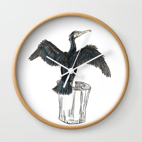 The Great Cormorant Wall Clock