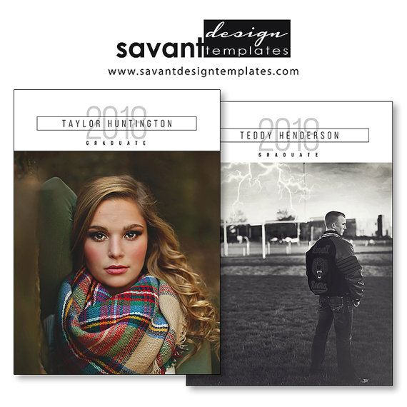 Graduation Announcement, Senior Graduation Invitation Card, 5x7 Grad Templates, Photoshop Template, GC60