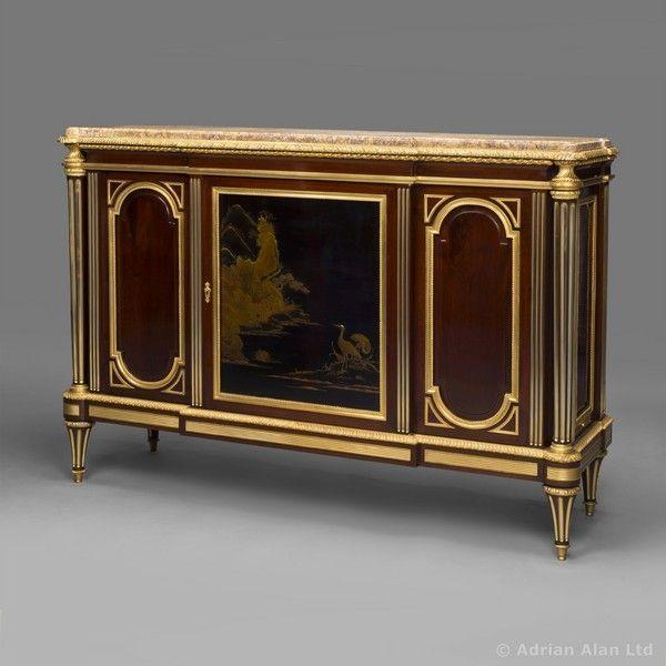 A Fine Louis XVI Style Lacquer Commode à Vantaux by HUBERT-JOSEPH