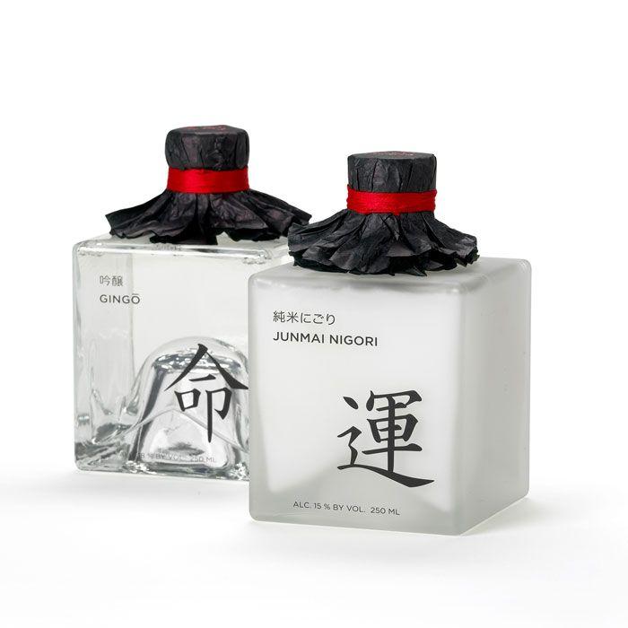 "♂ creative packing design Japanese sake  命运means ""destiny"""