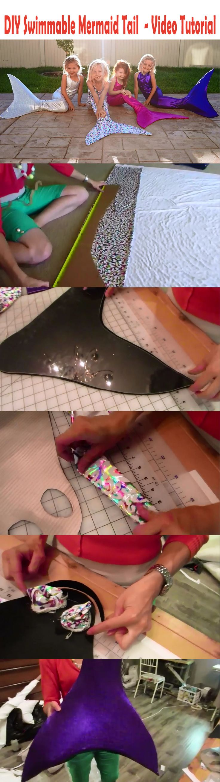 How to make a Swimmable Mermaid Tail for under $25 - Video Tutorial