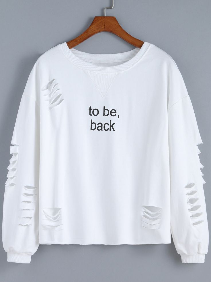 White+Round+Neck+Cut-out+Letters+Print+Sweatshirt+17.75