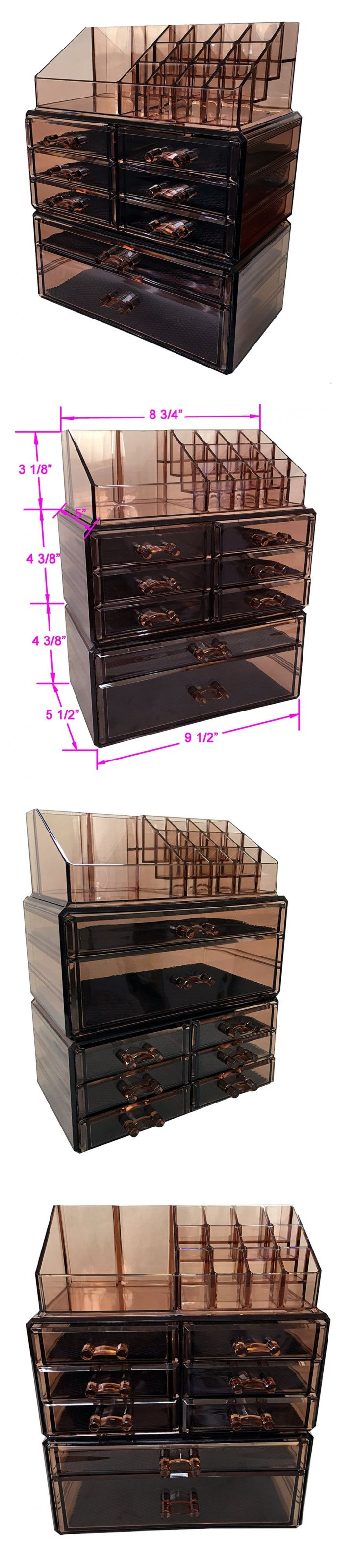 Makeup Bags and Cases: Sodynee Acrylic Makeup Cosmetic Organizer Storage Drawers Display Boxes Case, Th -> BUY IT NOW ONLY: $35.08 on eBay!