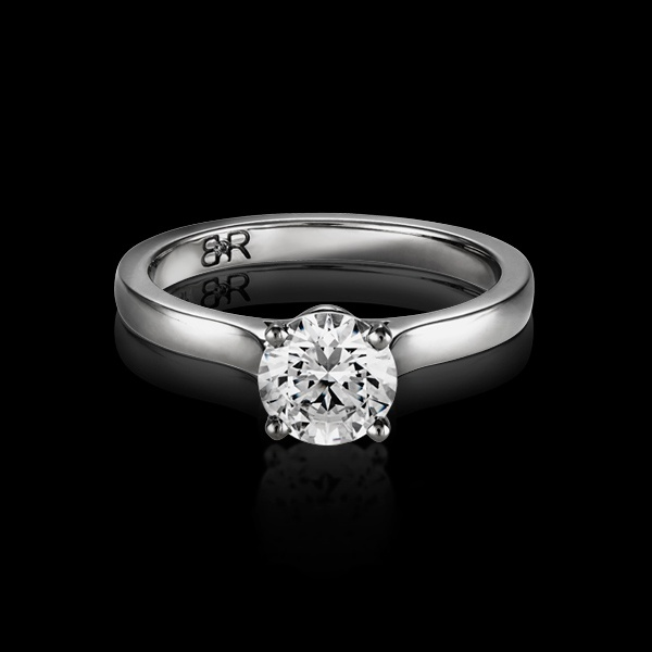 Exemplar is BigRocxs' classic solitaire engagement ring. This classic style features a 4 claw setting, securing your diamond in place.