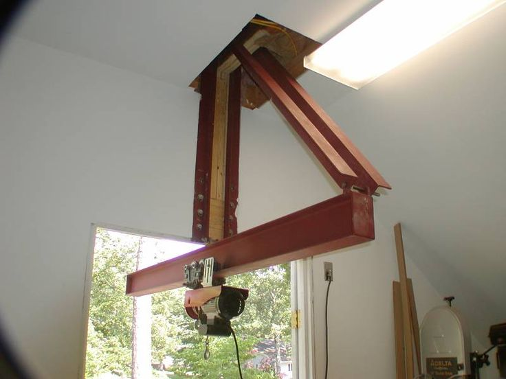 Hoist installation shop ideas pinterest woodworking for Shop hoist plans
