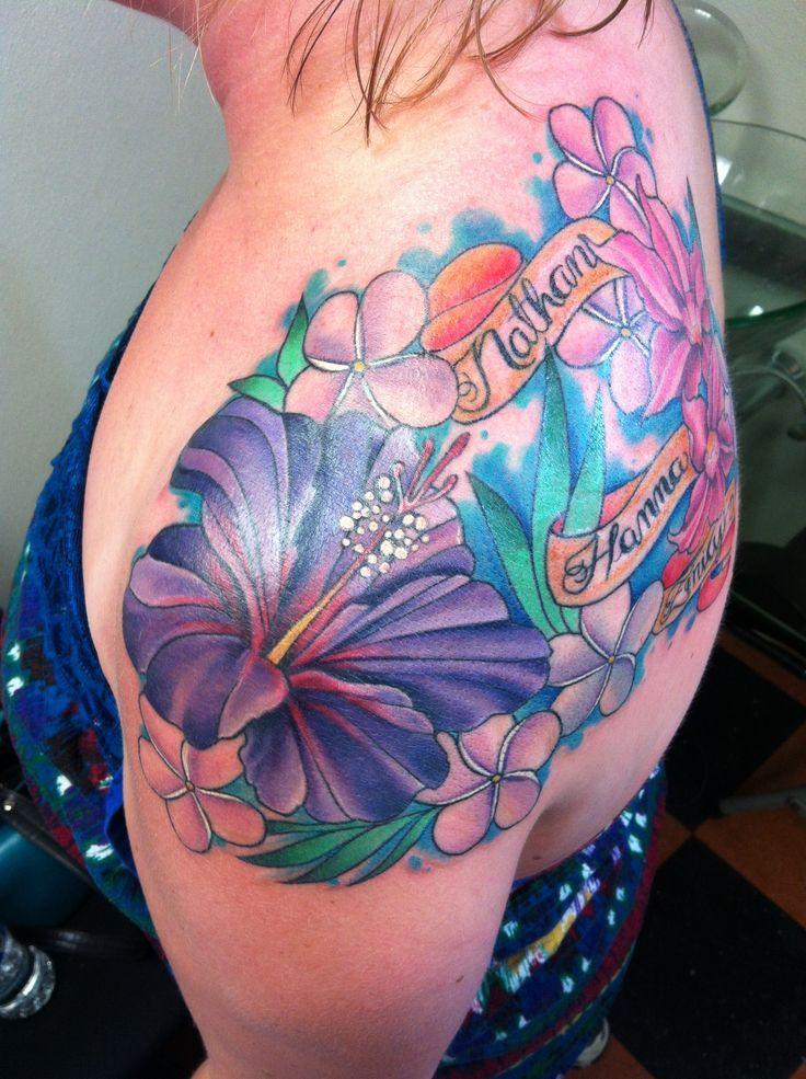 best 25 tropical flower tattoos ideas on pinterest hibiscus half sleeve tattoos hummingbird. Black Bedroom Furniture Sets. Home Design Ideas