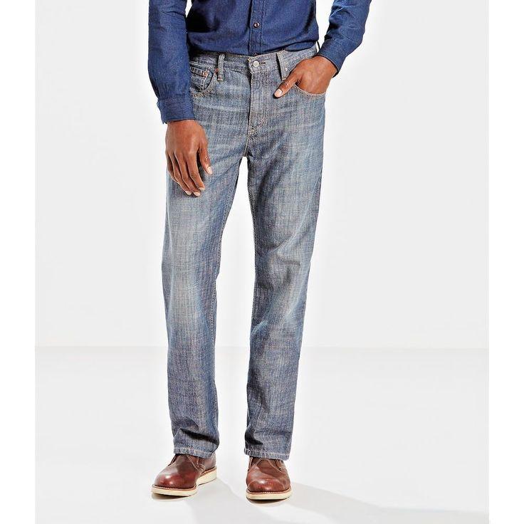 Levis mens 569 loose straight denim jeans medium wash