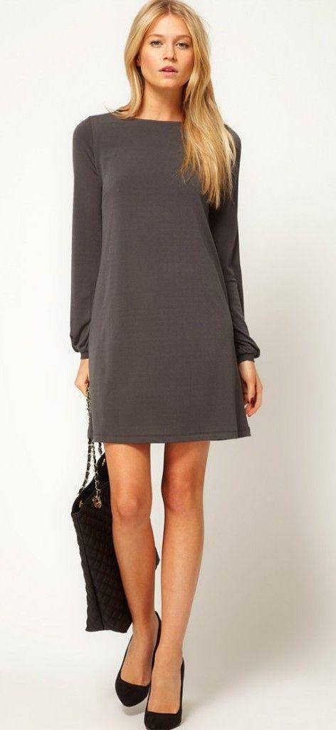 Черное платья для невысоких девушек