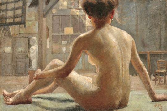 Csók, István (1865-1961) Nude in the Atelier, 1898