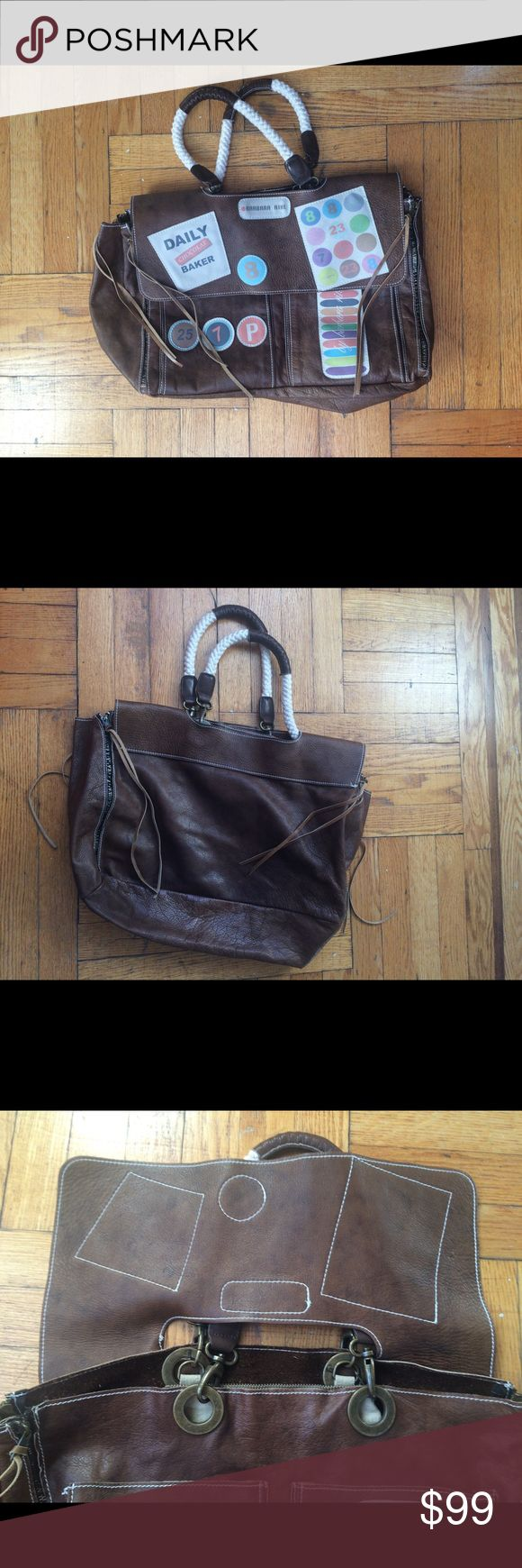 Barbara Rihl leather bag Barely used large leather bag by Parisian designer Barbara Rihl. Suede insight and all details and metal wear in excellent condition. Detachable pocket inside. Barbara Rihl Bags Shoulder Bags