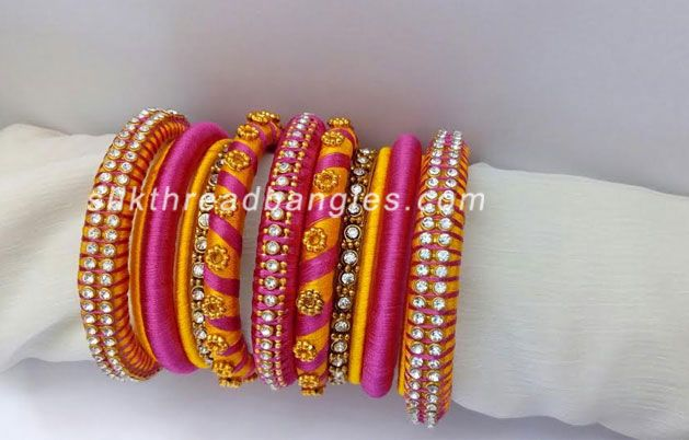 Bridal Handmade Silk Thread Bangles   Handmade Silk Thread Bangles Wholesale   Silk Thread Bangles Design