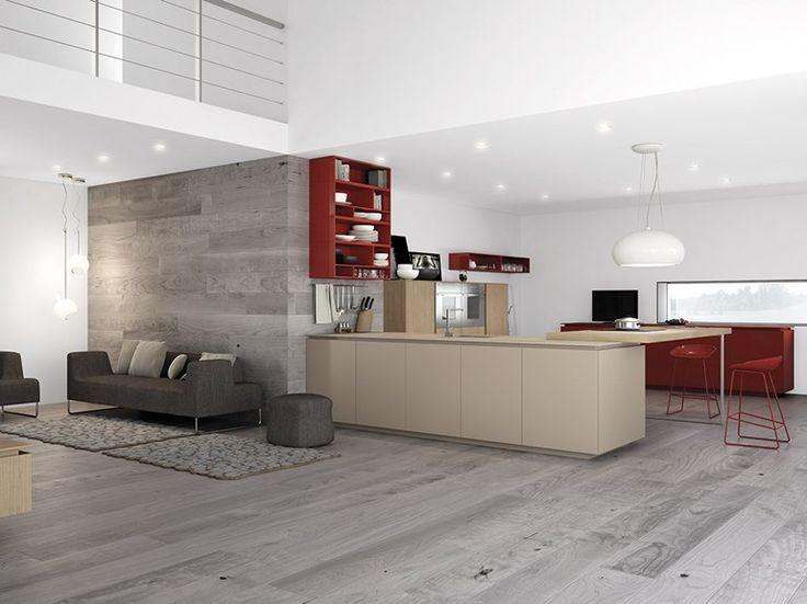 Minimalist Kitchen and open loft space Brickgals Reno