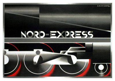 'Nord Express', 1927 (Unpublished Poster featuring Cassandre's 'Acier Noir' typeface)