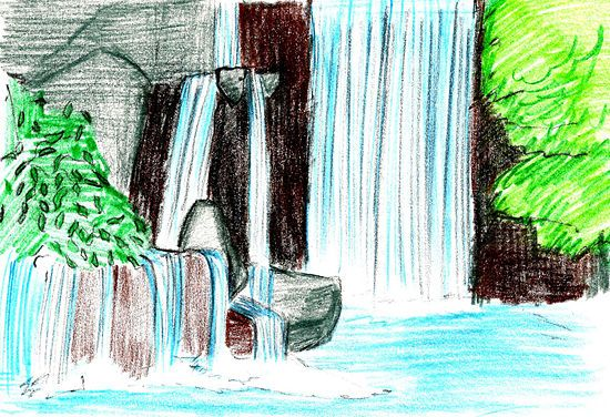 How to Draw a Waterfall: 16 Steps (with Pictures) - wikiHow