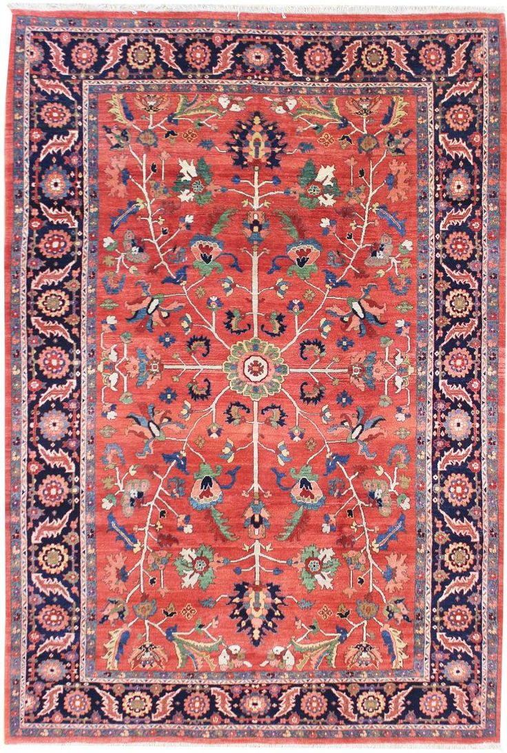 Geometric Oriental Rug Gallery: Persian Heriz Rug, Hand Knotted In Persia;  Size: 7 Feet 10 Inch(es) X 10 Feet 11 Inch(es)