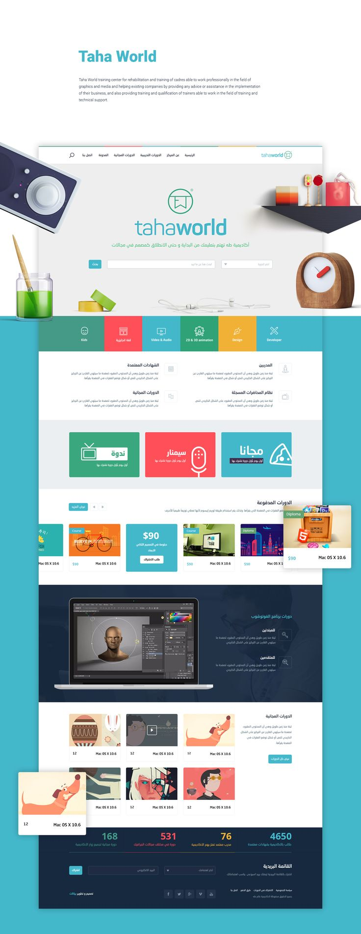 Tahaworld Website Design UX/UI on Behance