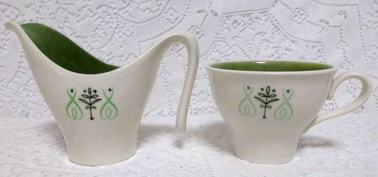 Mid Century Modern Taylor Smith Taylor Creamer and Cup Harmony House Del Ray #TaylorSmithTaylor