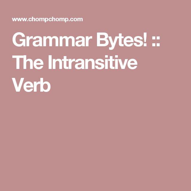 25 best ideas about intransitive verb on pinterest