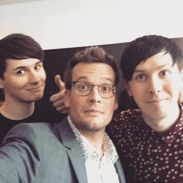 Thanks so much to @danisnotonfire and @amazingphil for hosting last night's event in London. And thanks to everyone in MadridParisBerlinLondon for making this crazy European Paper Towns tour so fun -John Green via Instgram. HOLY CRAP OH MY GOSH I AM DYING OVER HERE