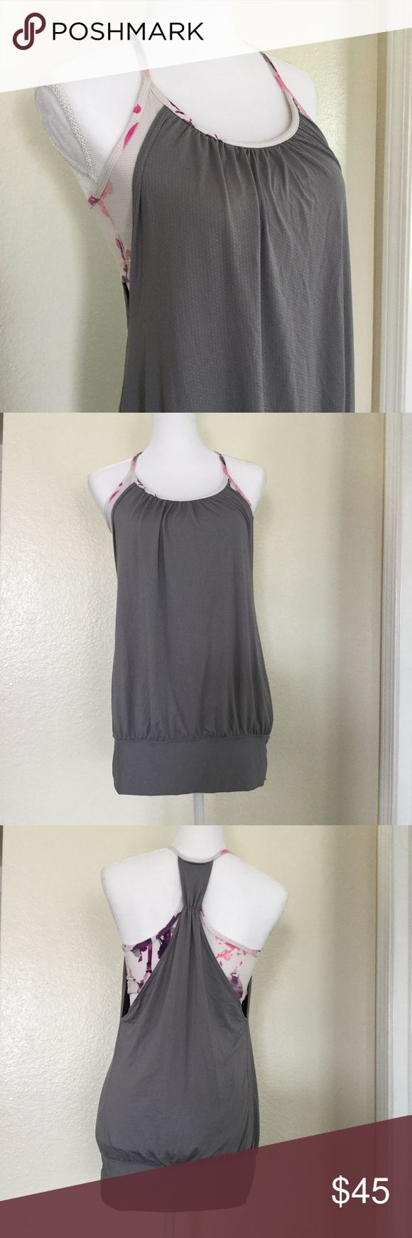 """🆕Lululemon No Limits fossil blurred blossoms tank Work out in style and without limits!  🐾 No Limits tank 🐾 Fossil and blurred blossoms multi-color 🐾 Racerback, thin straps 🐾 Mesh panel in bust lining 🐾 Circle mesh is moisture wicking 🐾 Wide band around hips to keep tank in place 🐾 Shelf bra, medium support 🐾 Losse fitting, low hip length 🐾 Bust (built in bra): 15"""" approx. 🐾 Length: 25 1/2"""" approx. 🐾 Excellent condition  🐾 Bundle discount 🐾 No trades 🐾 Smoke free, pet friendly…"""