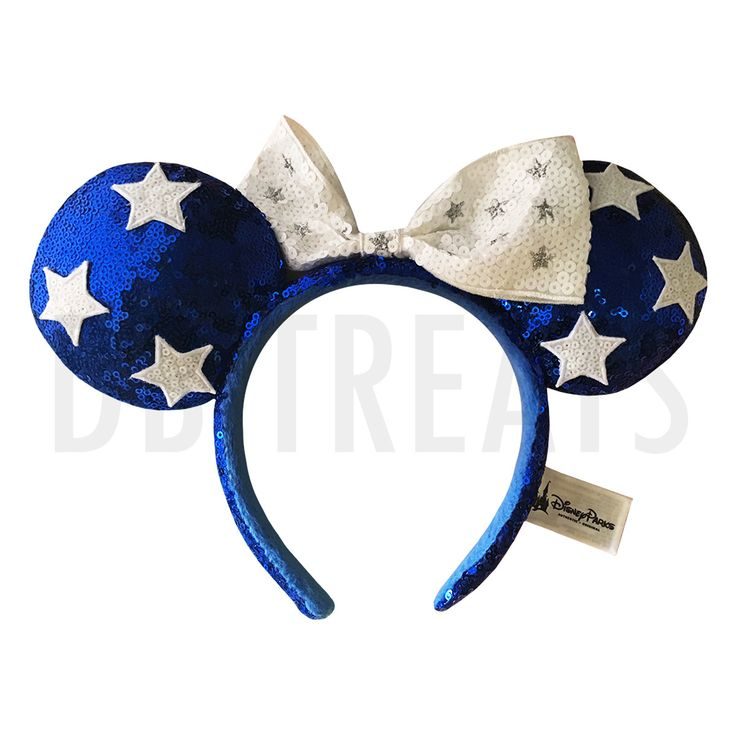 Disney Parks Minnie Mouse 4th of July Ears Headband