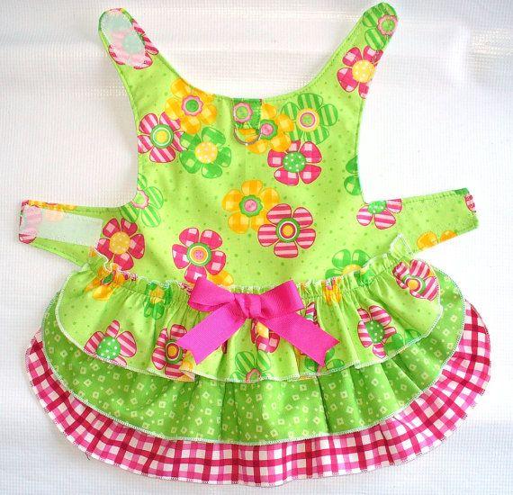 Ruffled Layer Cake DOG Harness Dress Puppy dress or by spotNotz, $23.00