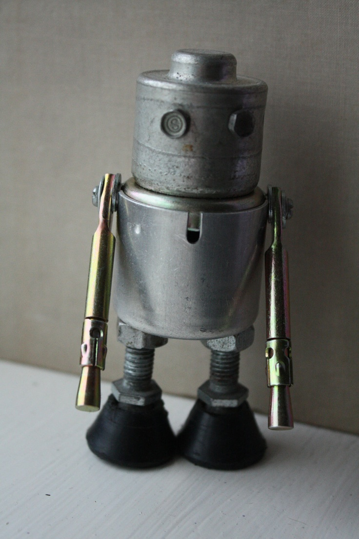 Recycled Upcycled Found Object Cyborg Robot made by RetroGubbins, £15.00