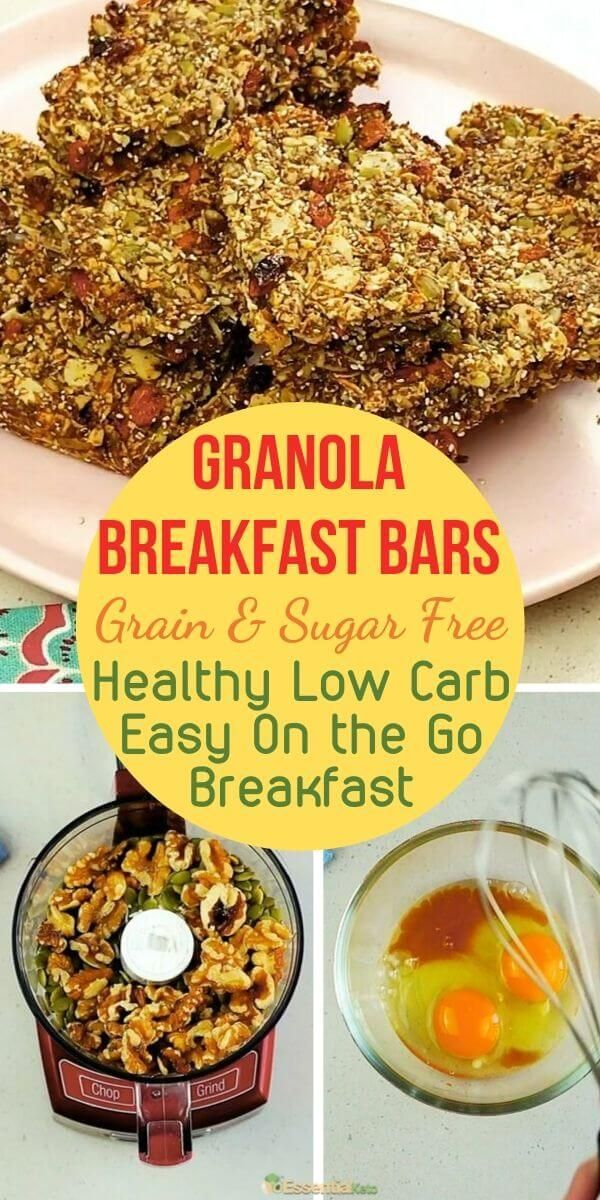 Low Carb Granola Bar Recipe With Images Low Carb Granola