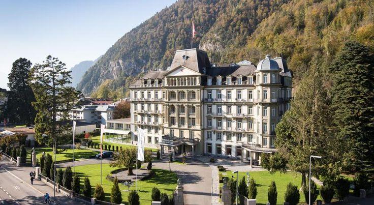 € 204 Situado a 5 minutos a pé da Estação de Trem de Interlaken Ost e com vistas dos Alpes Suíços, o Lindner Grand Hotel Beau Rivage desfruta de piscina coberta...