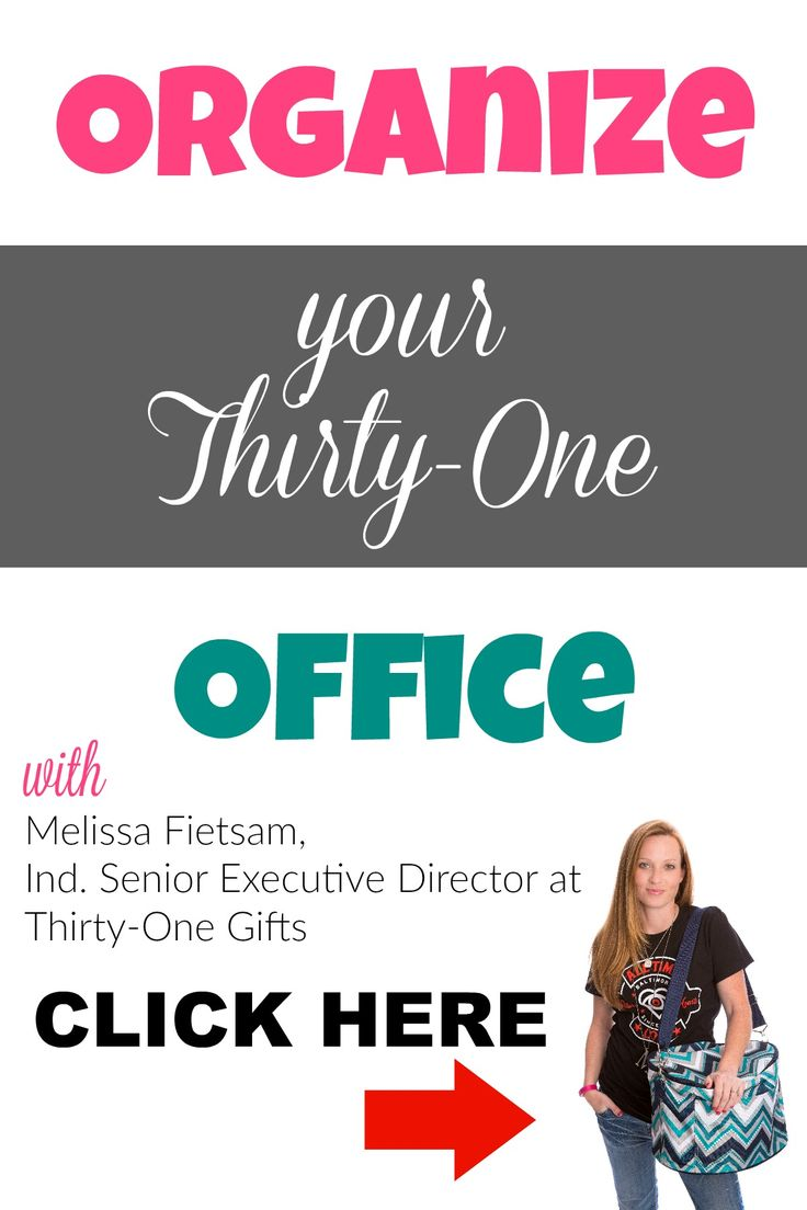 Organize your Thirty-One office space to give you more TIME. I think having an organized office is one of the most important things you can do for your direct sales business!