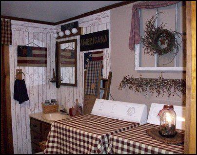Primitive kitchen decor primitive americana decorating for Americana bathroom ideas