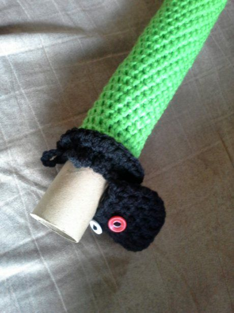 Crocheting for boys! make a light saber, or a sword...