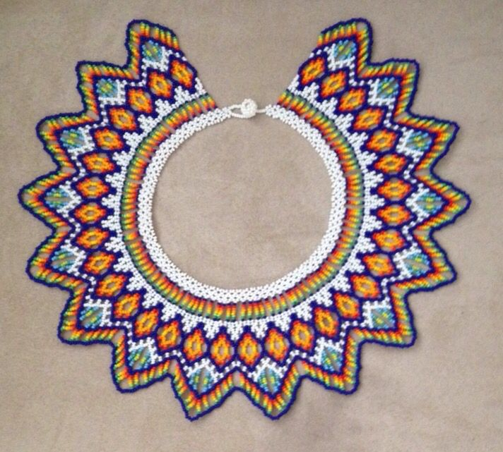 Beaded necklace. A beautiful work done by the Colombian Tribe Embera Chami