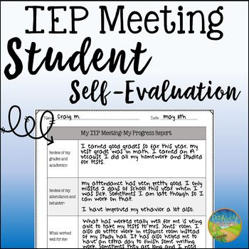 Have middle and high school kids complete a self-evaluation report to participate in their own IEP meetings. By reflecting on their progress, kids and young adults can begin to take charge and accountability for their own IEP meetings. With this free form, students will reflect on their