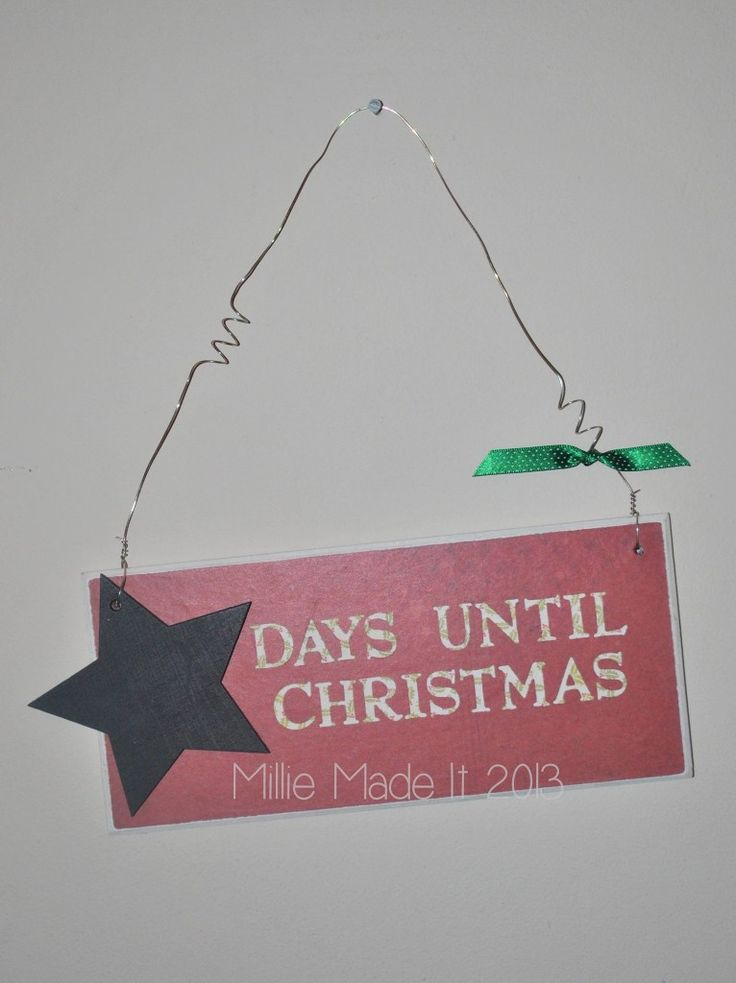 Christmas Countdown Plaque - The Supermums Craft Fair