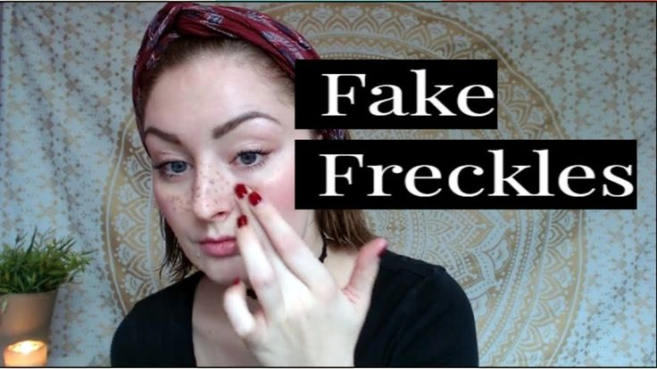how to make fake freckles without makeup