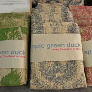 stylish packaging - apple green duck