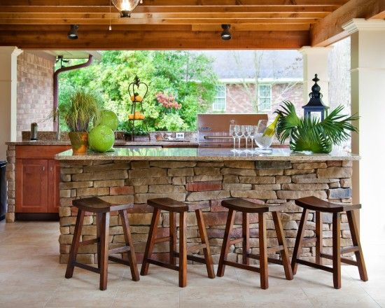 Outdoor Cooking And Dining Under The Deck. Lighting Too! | Houzz.com. Patio  IdeasOutdoor ...