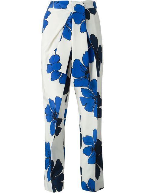 Shop Chloé flower print trousers in Smets - Chloé - pres spring 2015 - SMETS