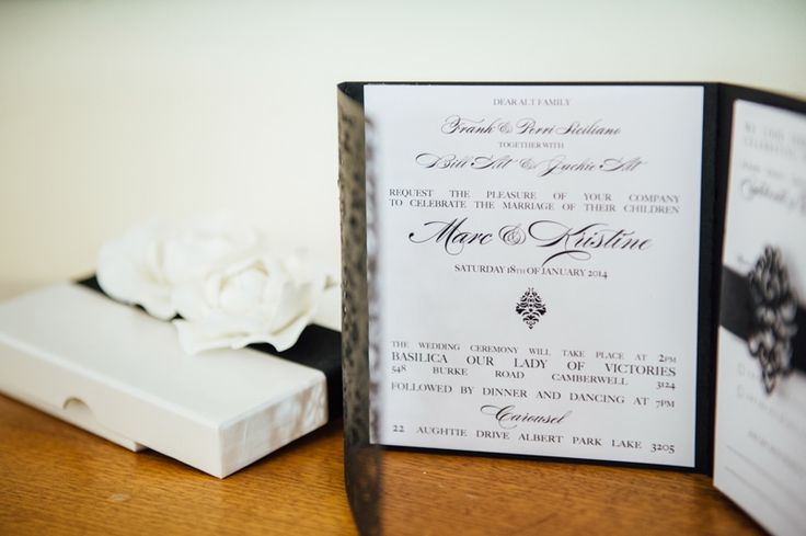 Classic Wedding Invitations - Marc and Kristine's Dream Wedding