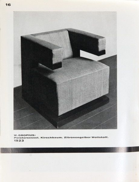 Furniture of the State University of Architecture Weimar (1925)